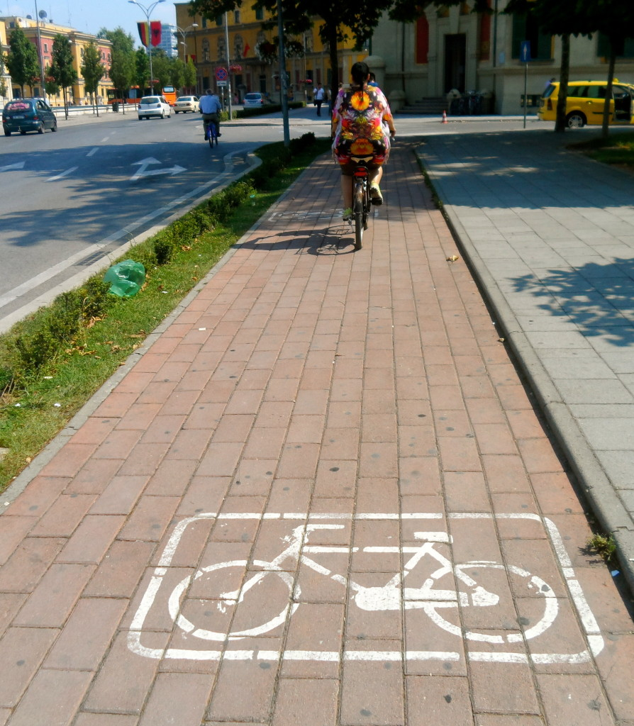Tirana has a growing bicycle culture.