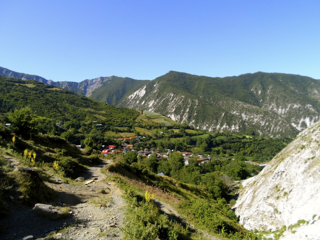 On the way back down to the village.