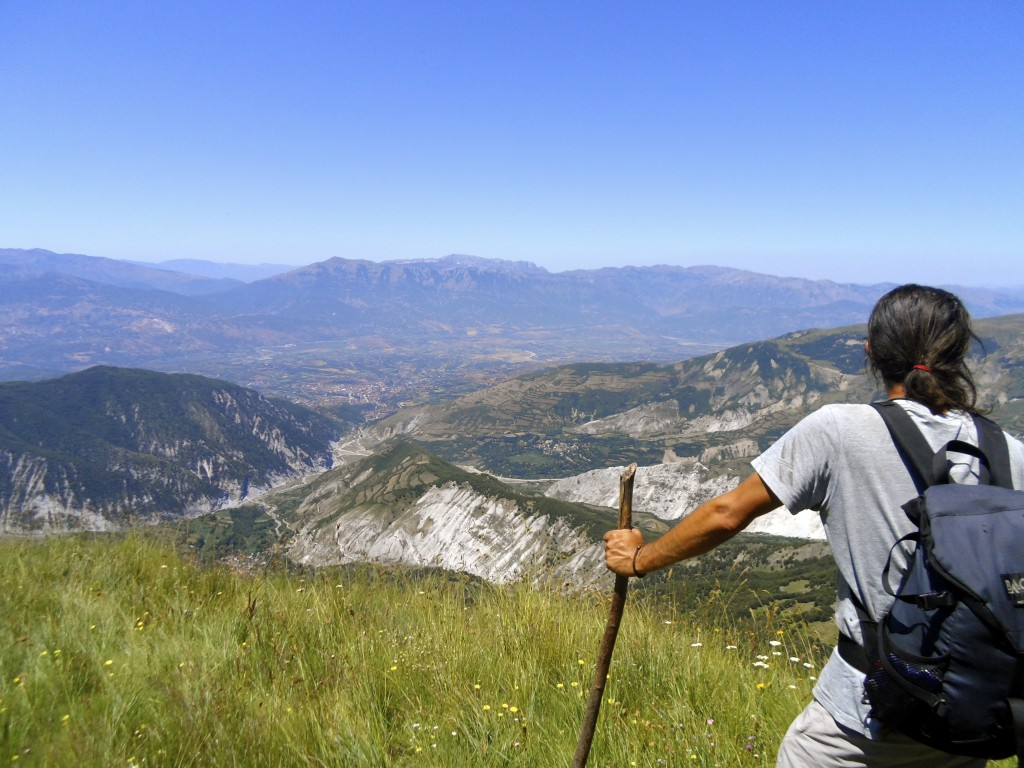Hiking in Albania gives you great views.