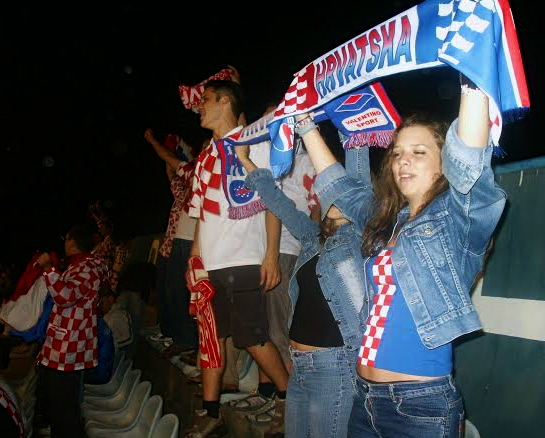 Croatian supporters in Zagreb.