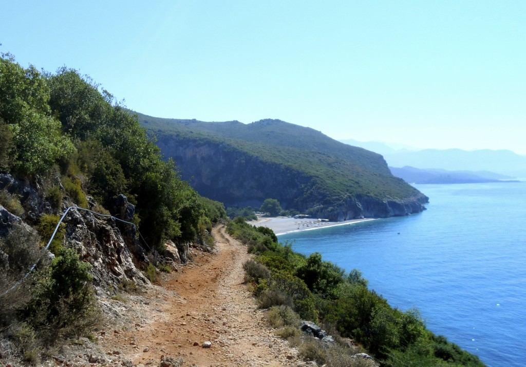 Hiking to Gjipe Beach