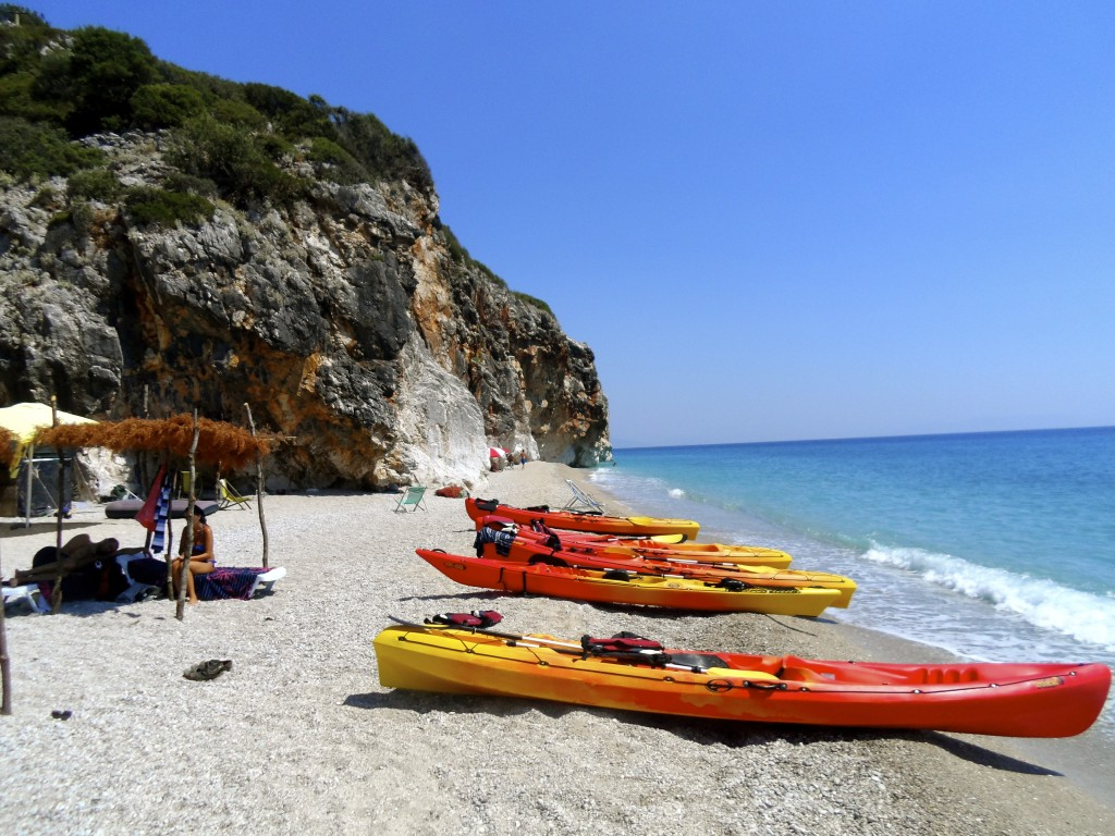 Go kayaking to Gjipe Beach