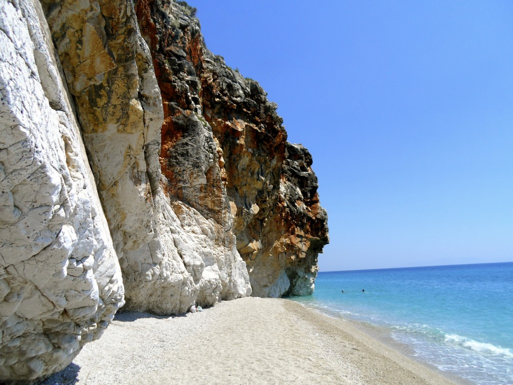 Gjipe Beach in Albania.