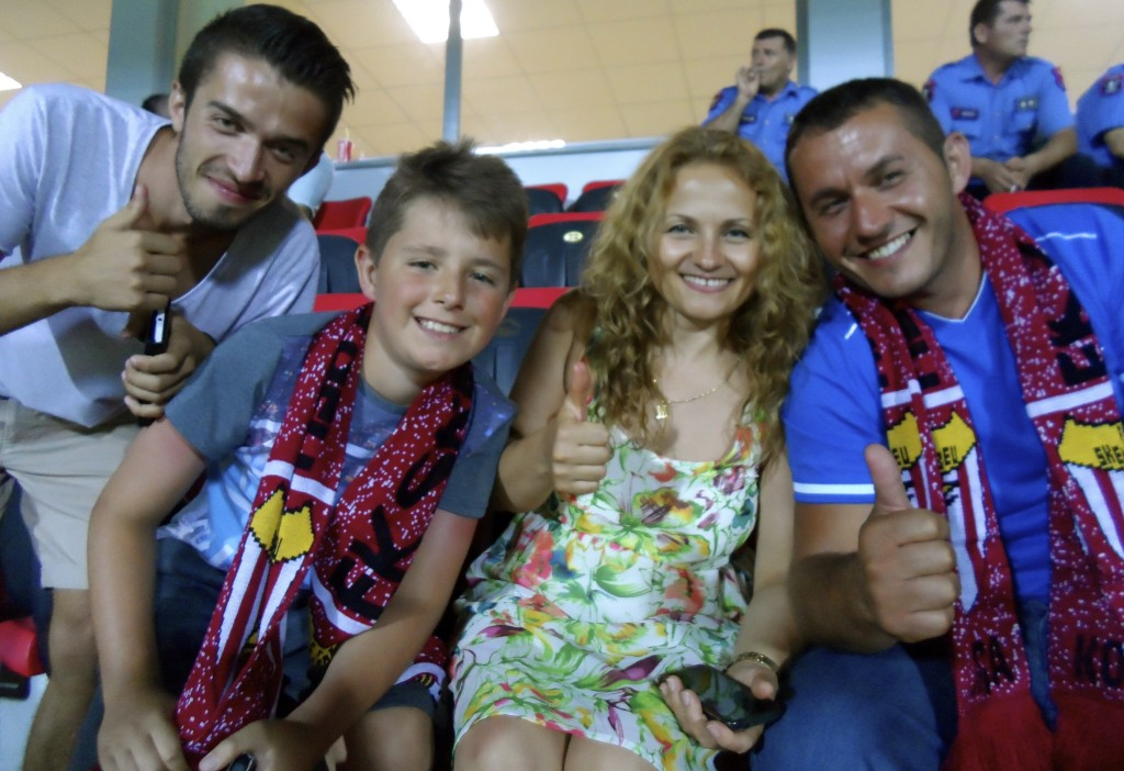 Friendly albanian football fans.