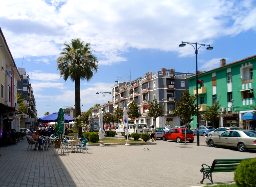The main avenue in Elbasan