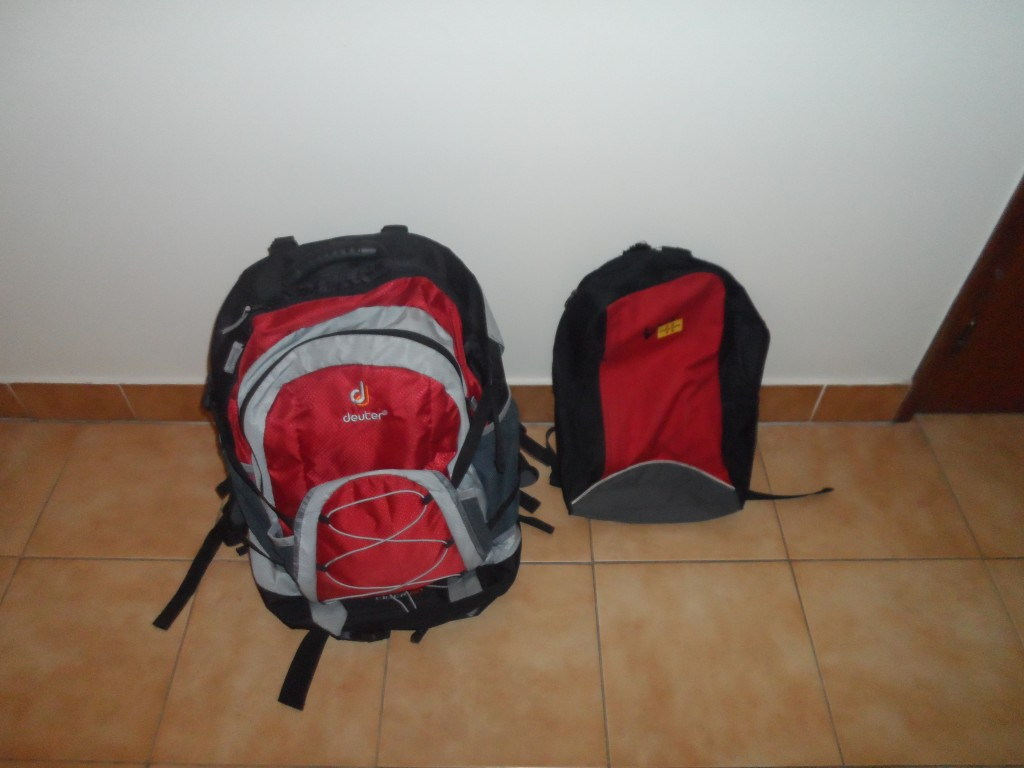 My small pack fits in to my large pack when I am walking.