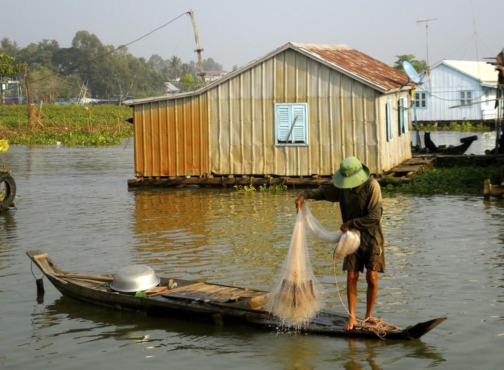Vietnamese fisherman.