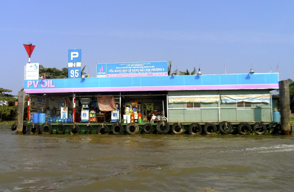 Floating gas station in Vietnam.