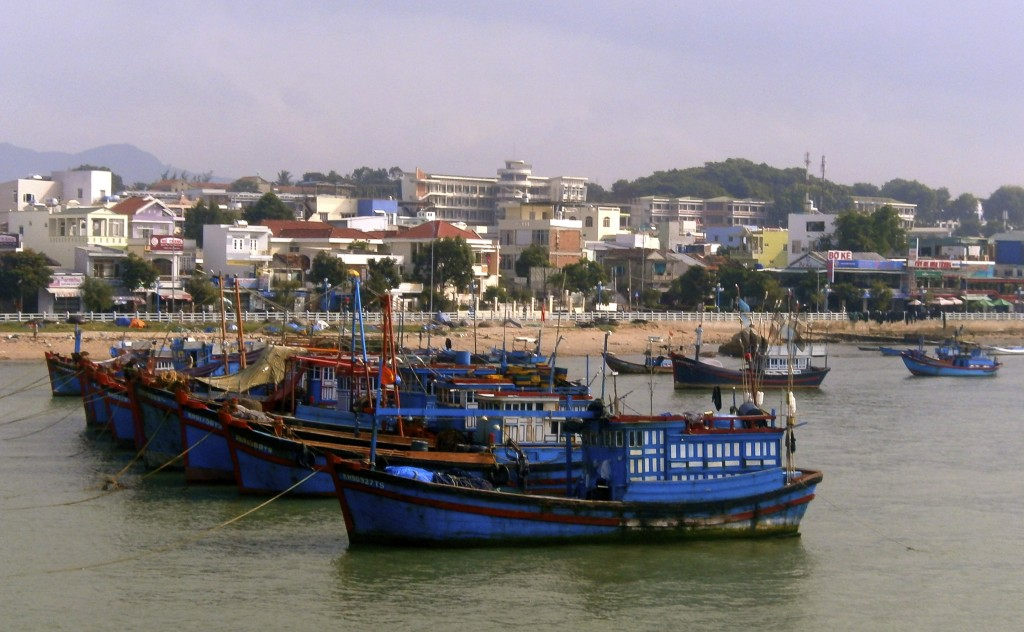 Fishing boats in Vietnam.