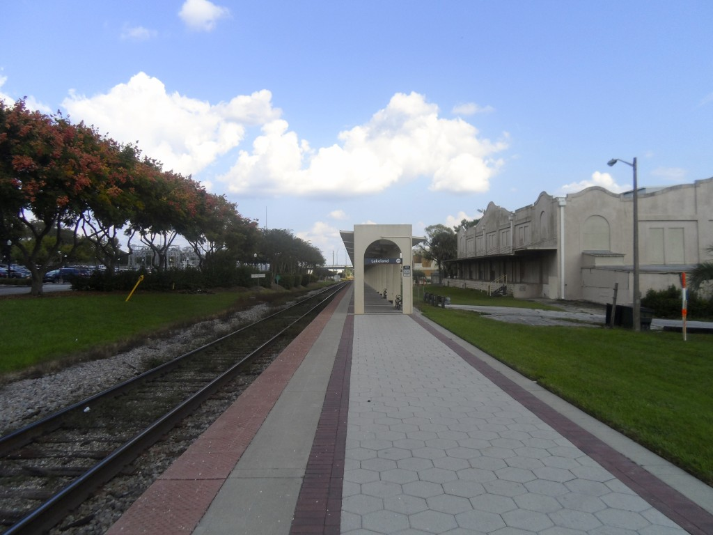 The Amtrak station in Lakeland, Florida.