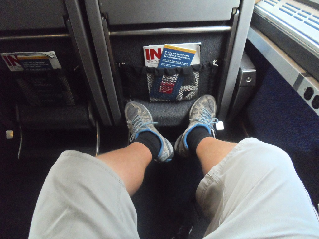 Nice leg space on Amtrak.