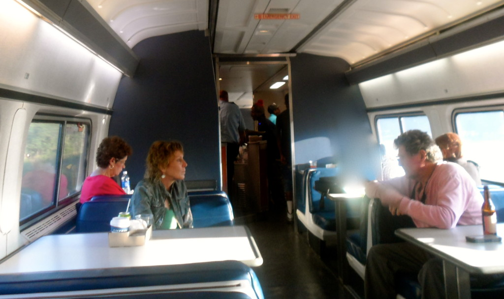 The train cafe at my Amtrak train.
