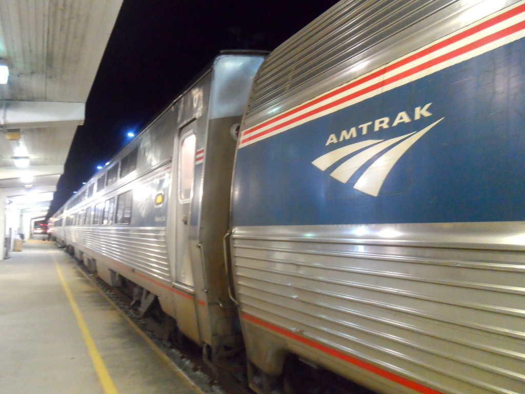 The Amtrak train I took.
