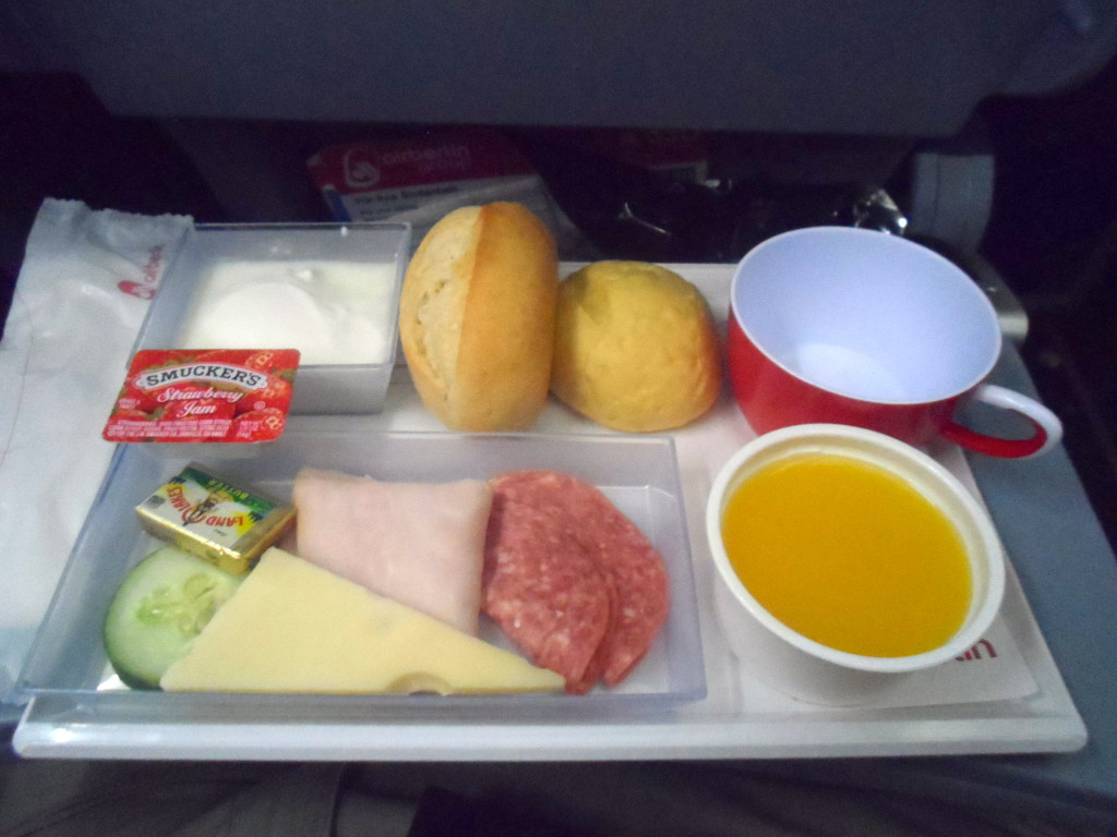 My Air Berlin breakfast on my flight to Miami.
