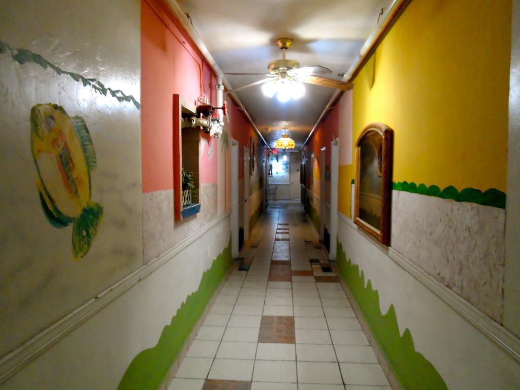 Funky corridors too.