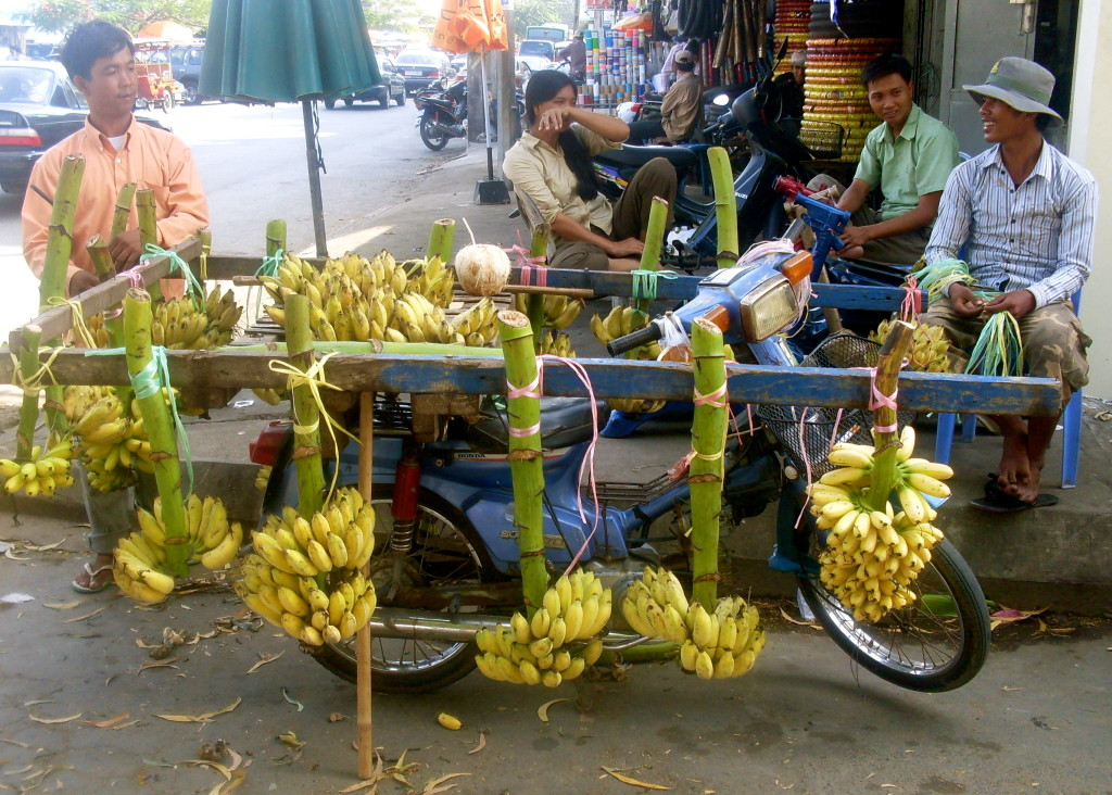 Banana shop on two wheels.