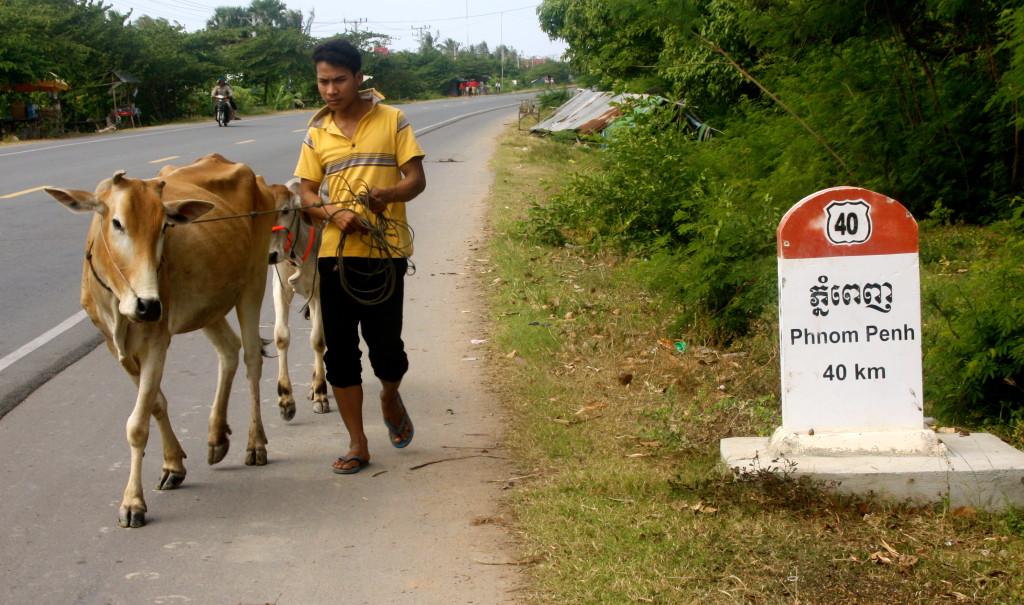 Cambodian road scene.