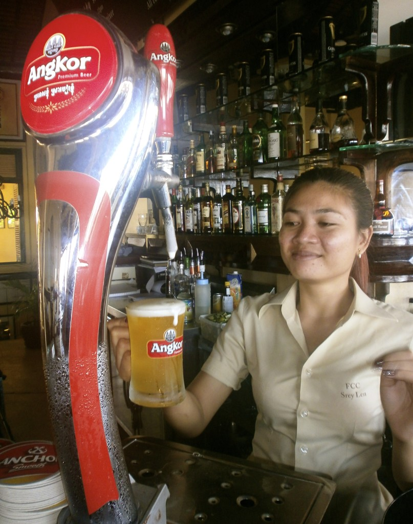 This cambodian girl was serving me beer while I was talking to a murderer.