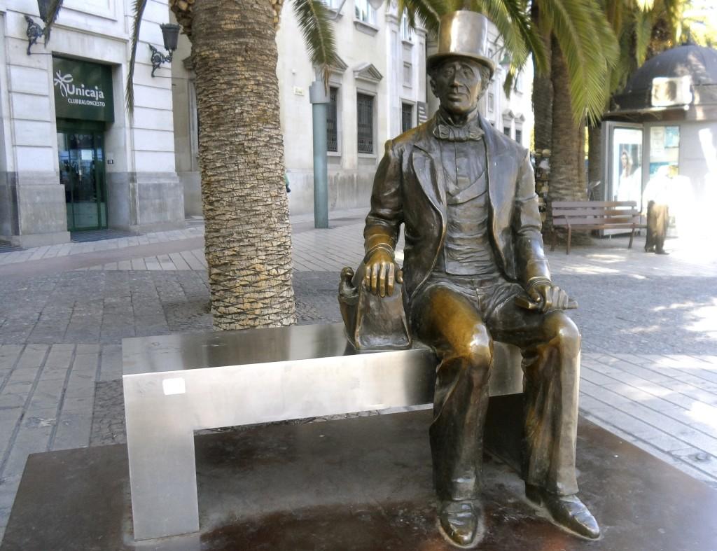 Hans Christian andersen in Malaga.
