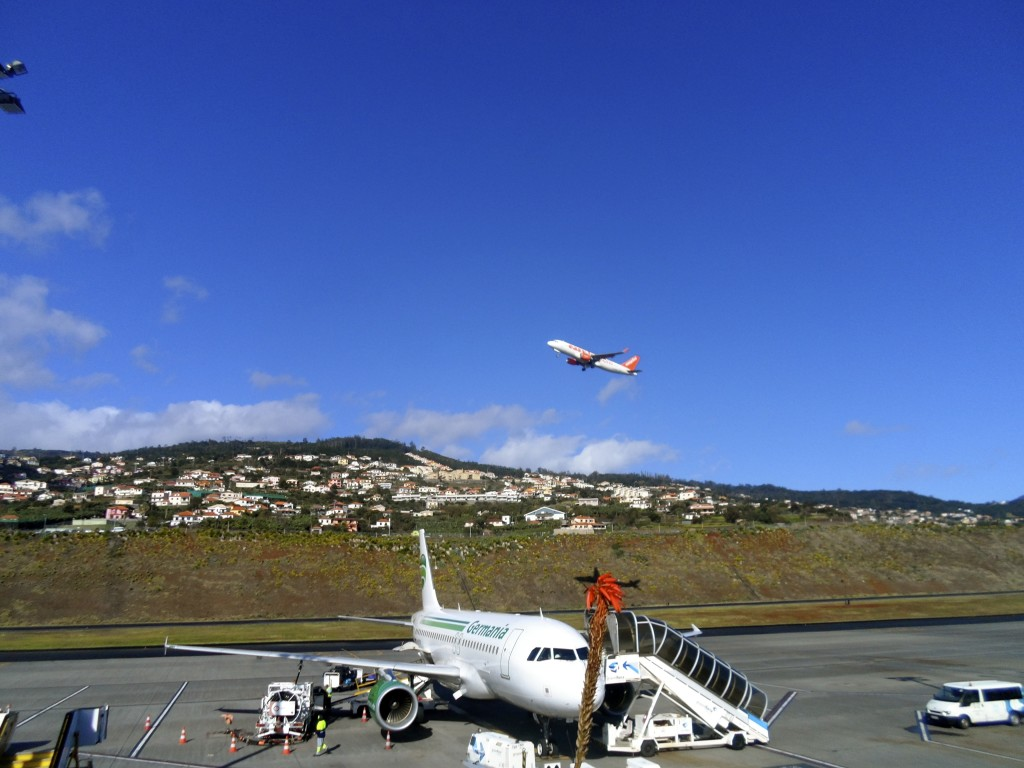 Madeira Airport is in a spectacular location.