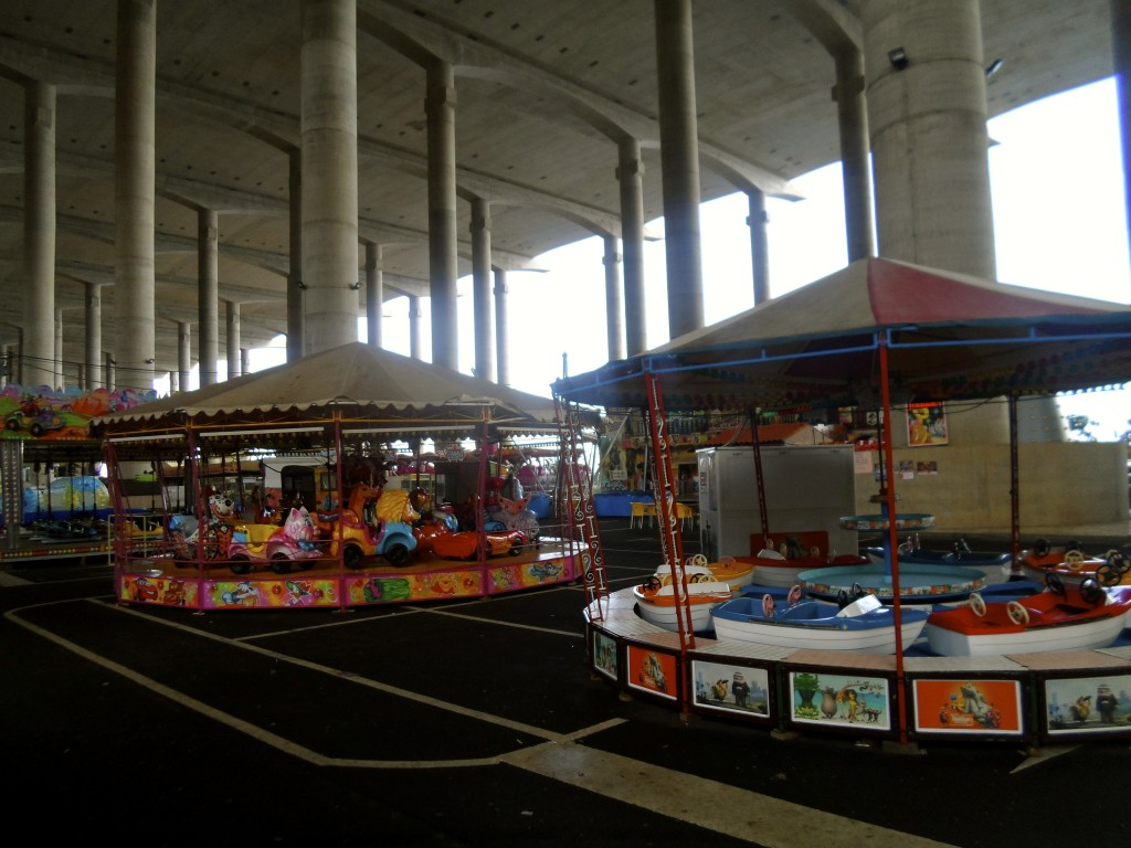 A fun fair under the runway.