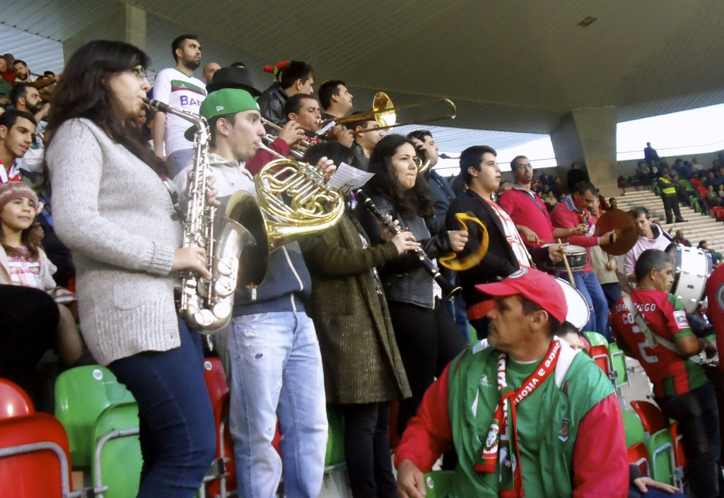 Maritimo fans blowing their horn.