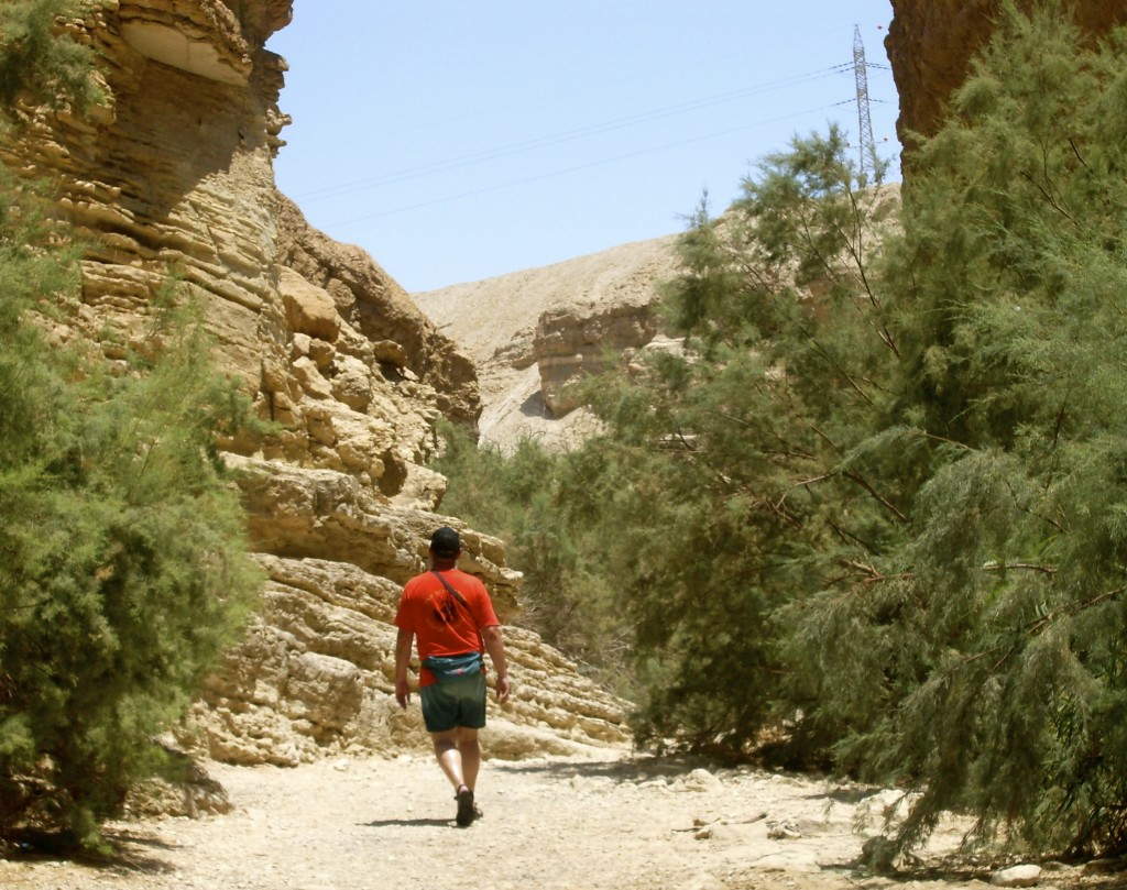 Canyon walking in Israel.