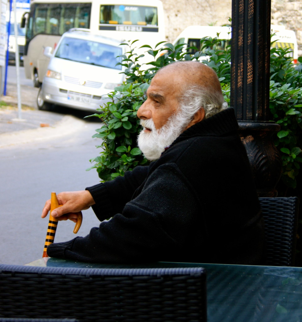 Old man in Istanbul.