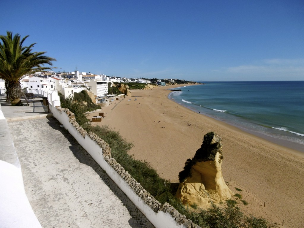 Albufeira has a nice beach.