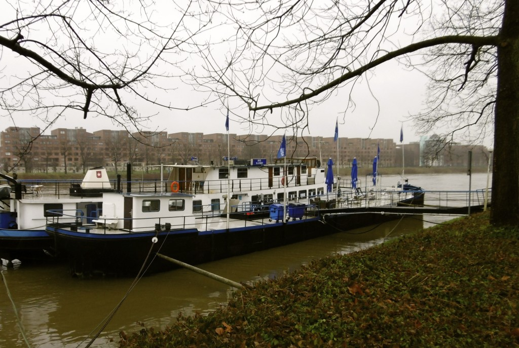 Boat hotel in Maastricht.