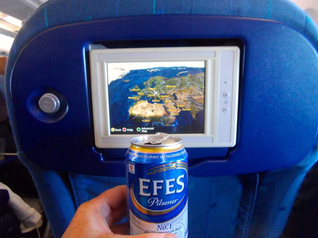 Free beer on Turkish Airlines.