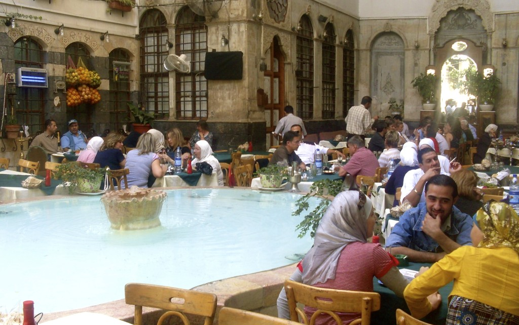 This was my local cafe, when I was working in Damascus, Syria.