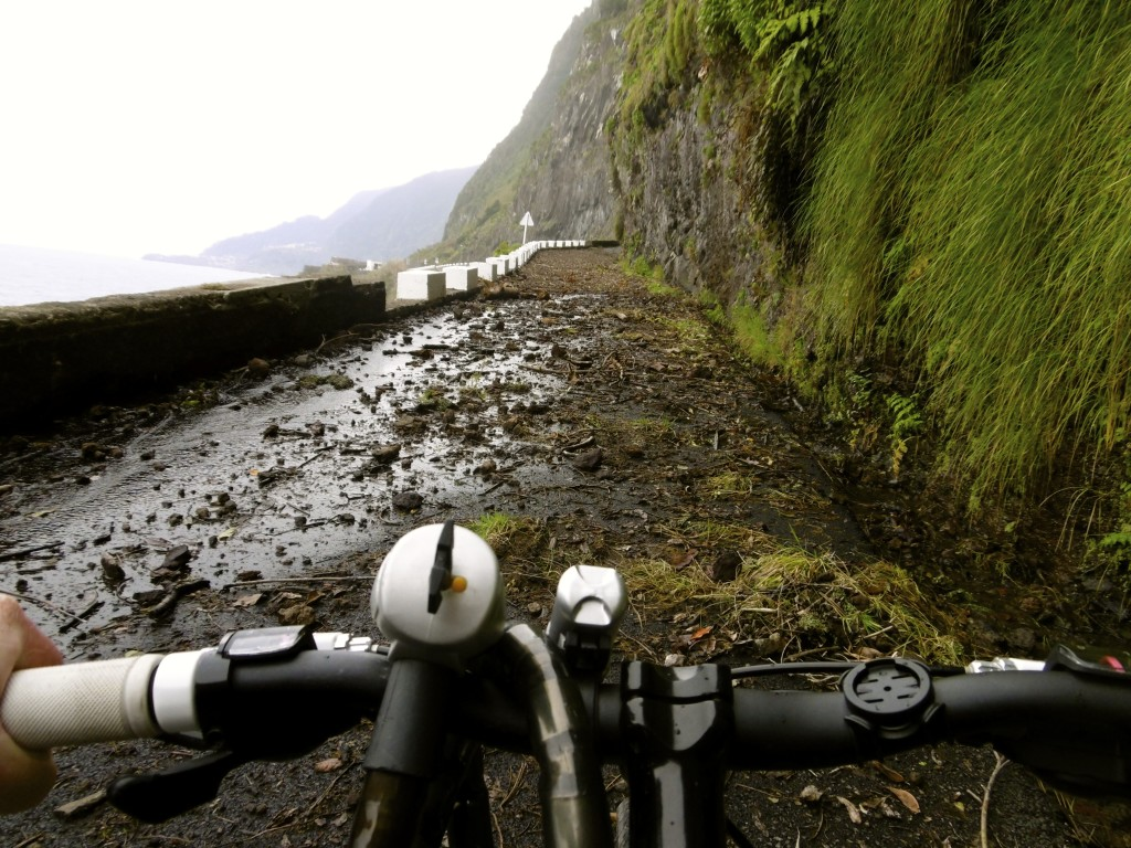 Be ware of rock slides when cycling around Madeira.