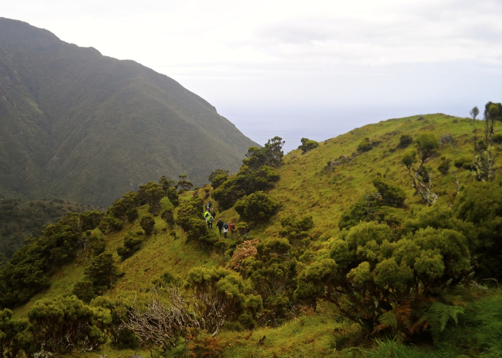 Hiking on Sao Jorge Island.