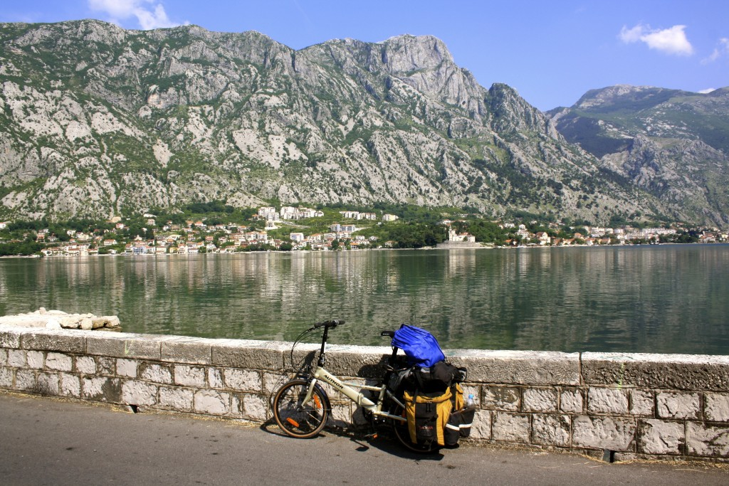 Cycling around Montenegro on a 200$ folding bike.