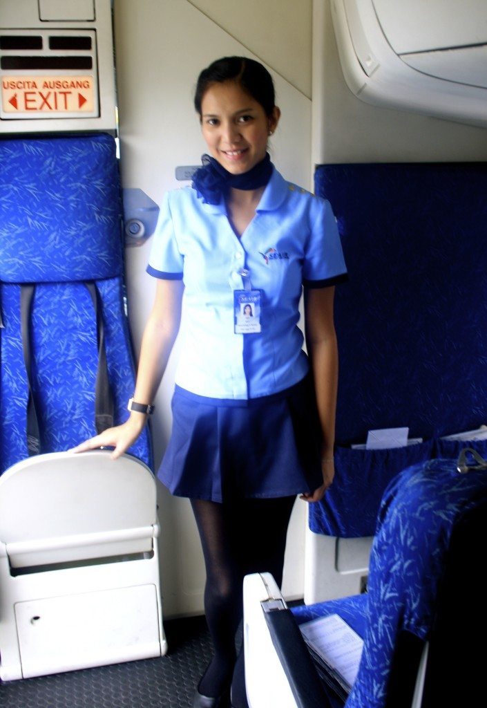 Philippine cabin crew is as pretty as Manila airport is ugly.