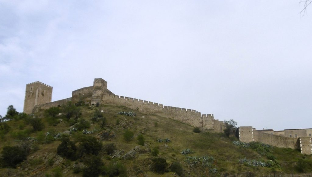 The city walls of Mertola.