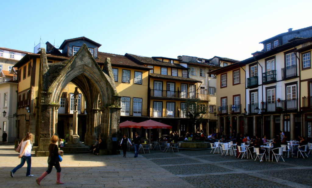 The old town of Guimaraes.