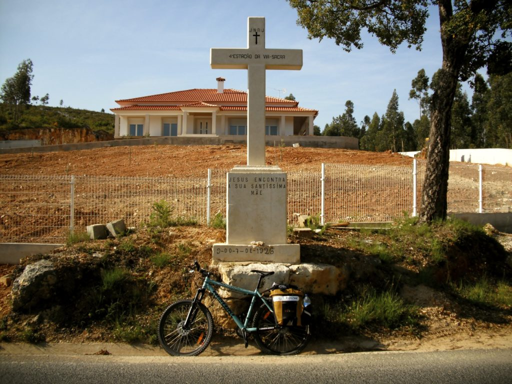 Cycling near Fatima, in Portugal.