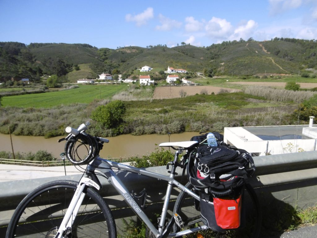Tour cycling in Portugal.