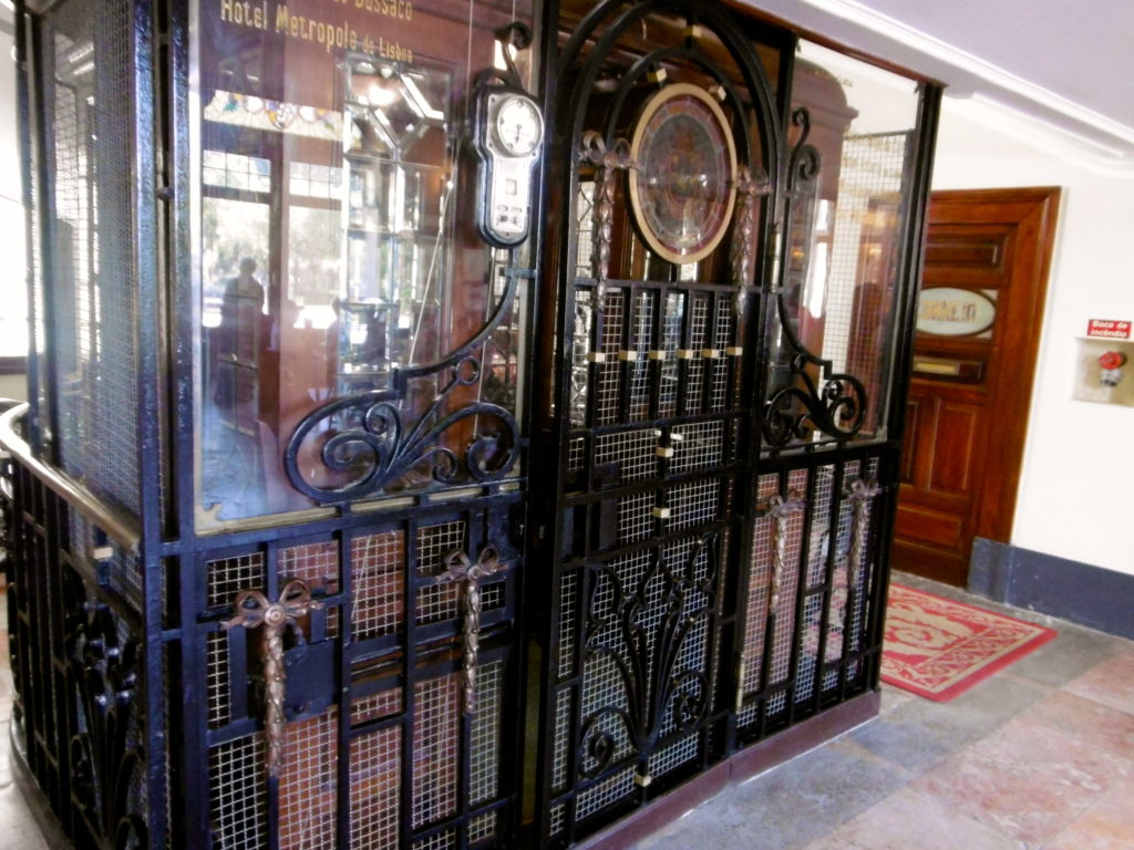 The elevator at Hotel Curia Palace.