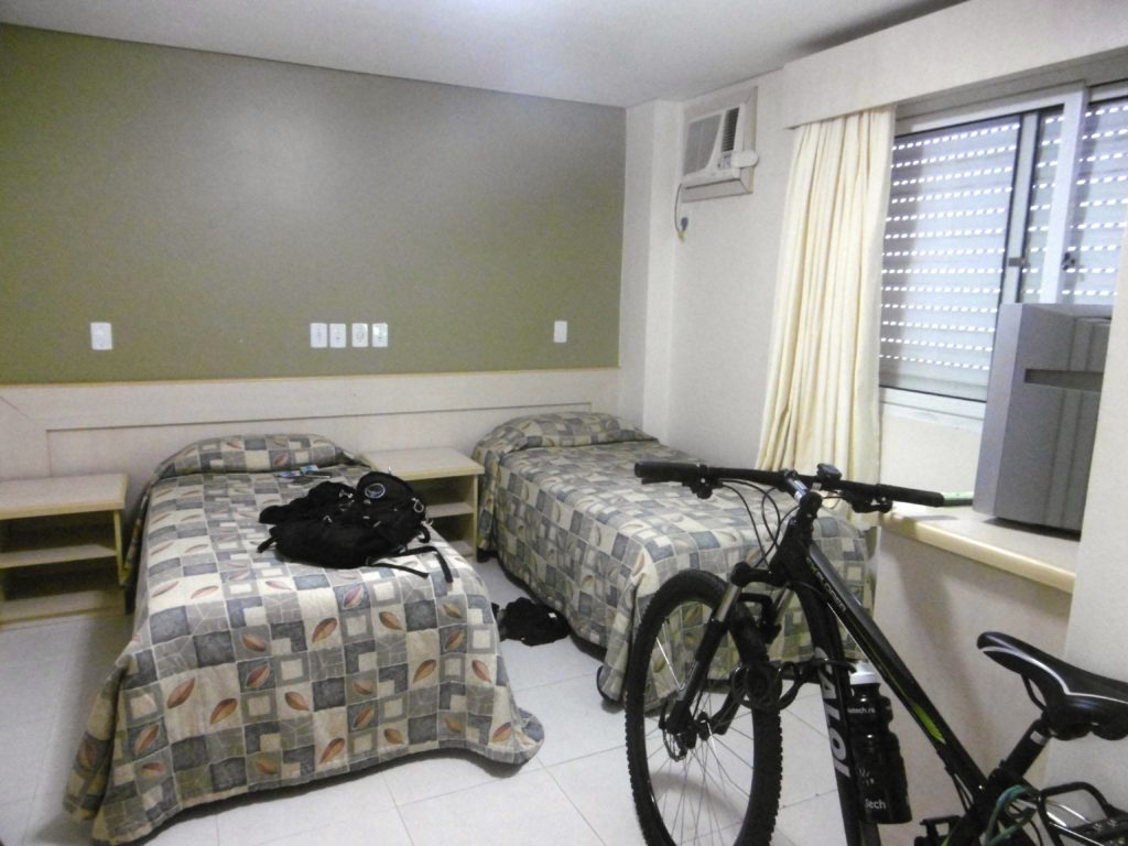 You know you are a tour cyclist when you sleep with you bicycle.
