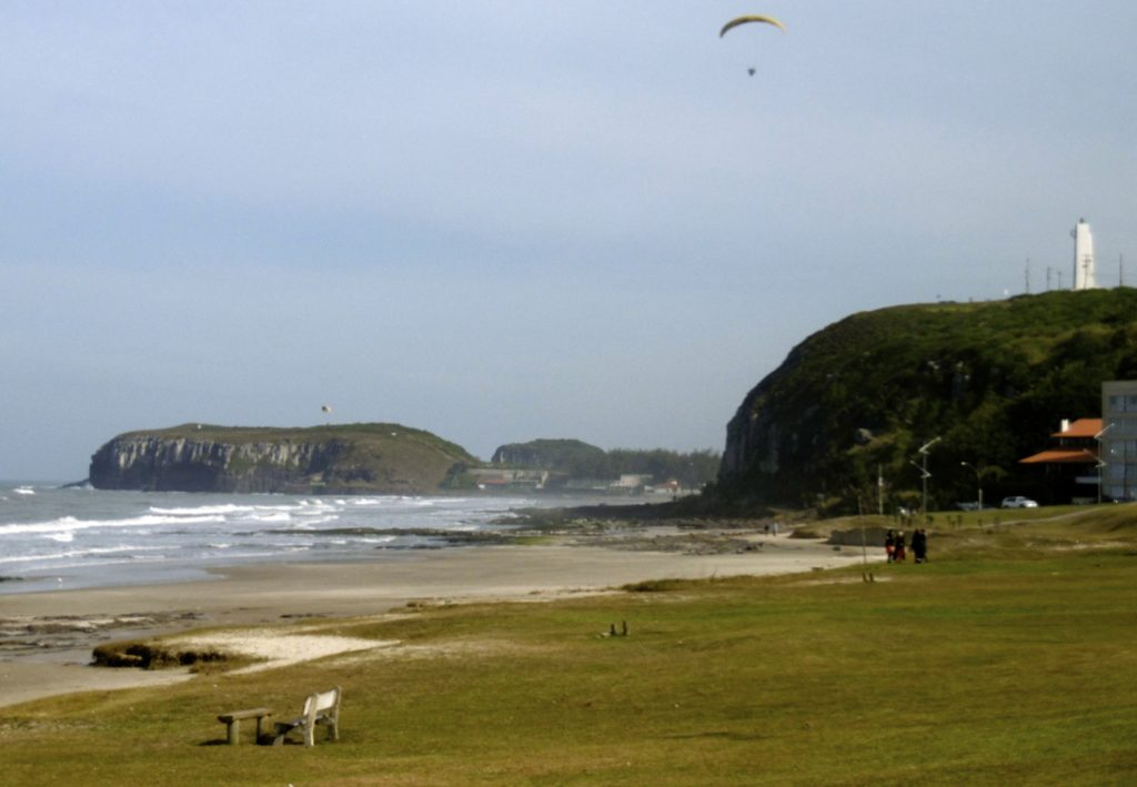 Torres beach in Rio Grande do Sul.