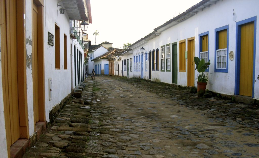 The cobblestoned streets of Paraty.