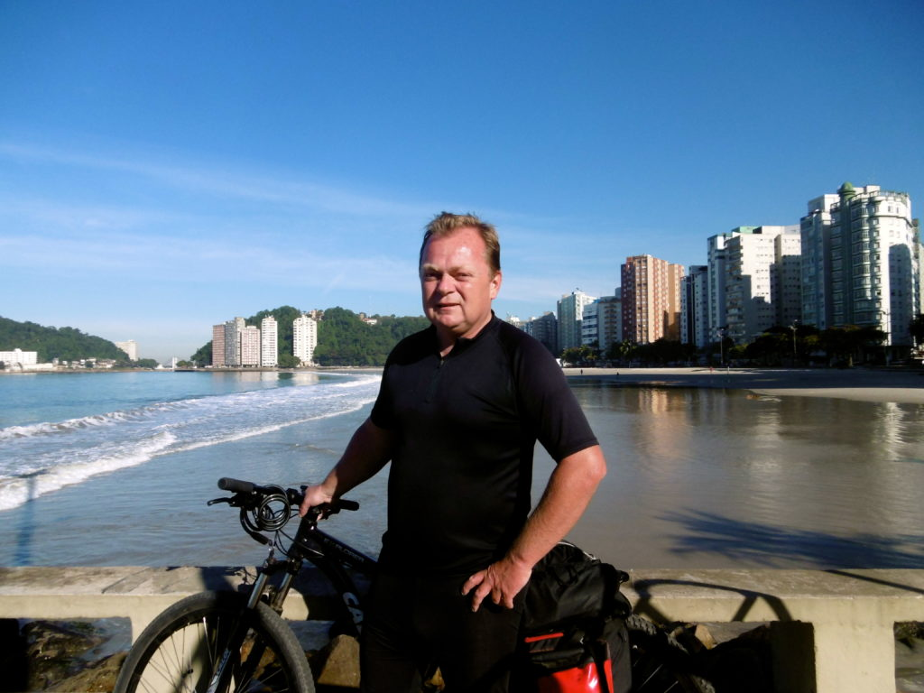 Me and my bicycle in Santos.