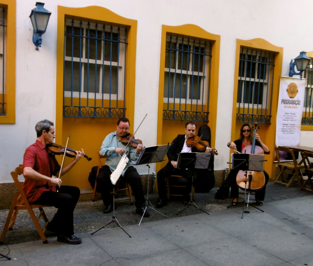 Classical music in the streets of Santos.