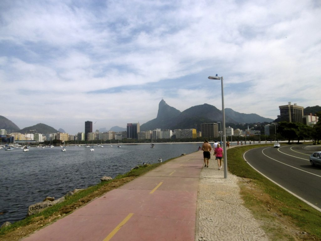 Cycling from Flamengo to Botafogo.