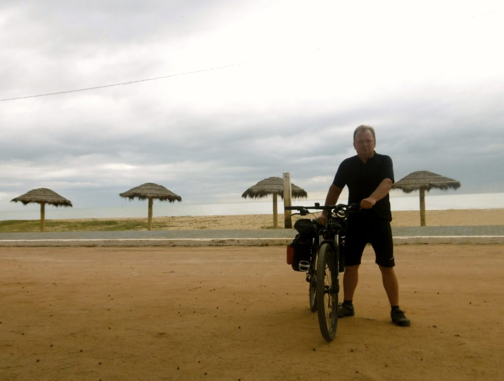 Cycling along the brazilian coastline.