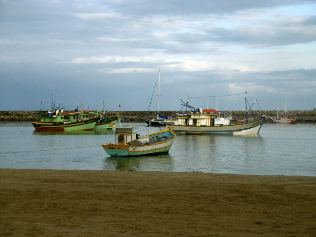 Fishing boats on the brazilian coastline.