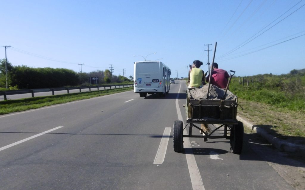 Typical road scene in rural Brazil.
